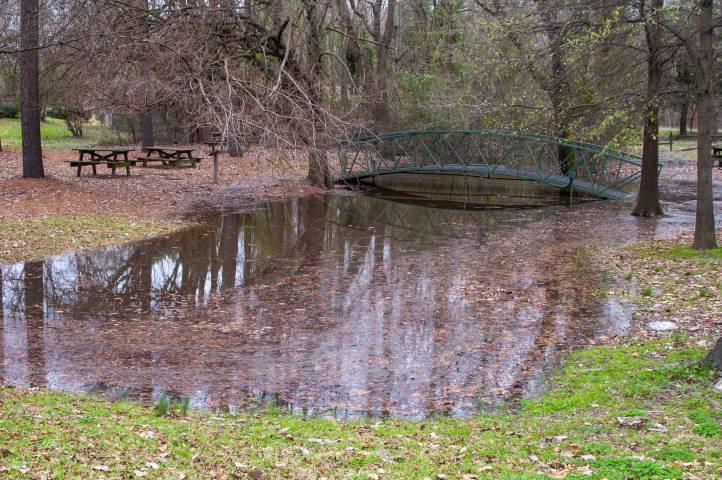 flooding at Old Waynesborough